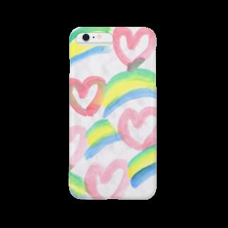 KiKiTRiP Magのハートと虹 Smartphone cases