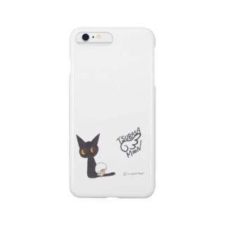 天使のひよこちゃんと黒猫ムーン (クラシック) スマートフォンケース