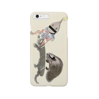 百鬼夜行絵巻 琵琶・琴・浅沓の付喪神【絵巻物・妖怪・かわいい】 Smartphone cases