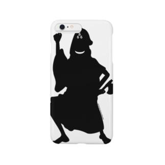 ホラーズシルエット(三角帽子) Smartphone cases