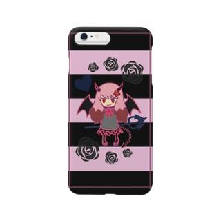 ピンクロな小悪魔 Smartphone cases
