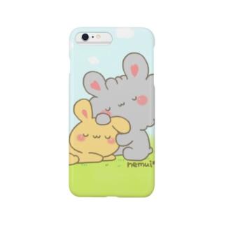 おやすみうさぎ(カラー) Smartphone cases