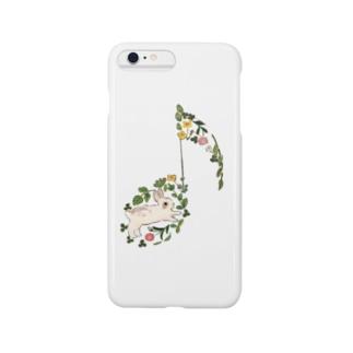 ルンルンうさぎ Smartphone cases