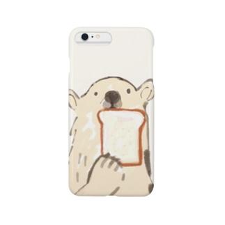 食パンとクマ Smartphone cases