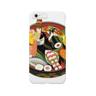 - さらさら -の寿司娘 Smartphone cases