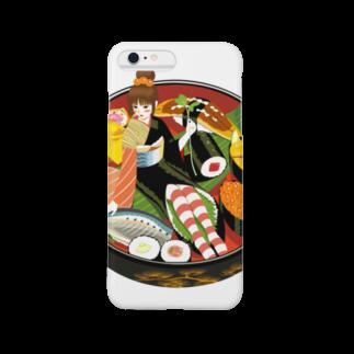 - さらさら -の寿司娘 スマートフォンケース