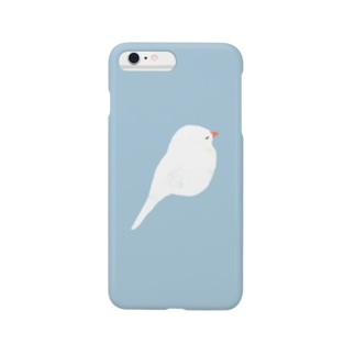 やわらかな文鳥 Smartphone cases