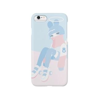 ピンクとブルー Smartphone cases