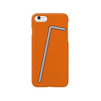 おしゃれストロー(青) Smartphone cases