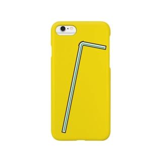 おしゃれストロー(緑) Smartphone cases