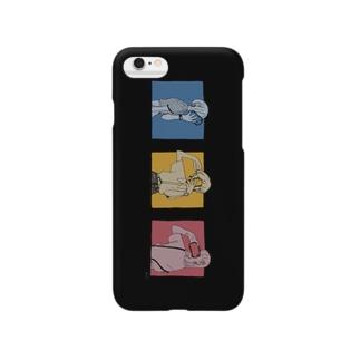 黒い自撮り女子 Smartphone cases