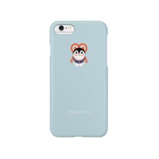 いぬはりこ blue Smartphone cases