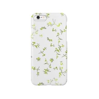 グリーンヒドラの群れ・白 Smartphone cases