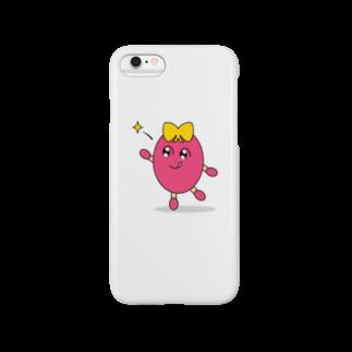 まぼろし国 Suzuri店のおはぎちゃん きゅぴーん!(白) Smartphone cases