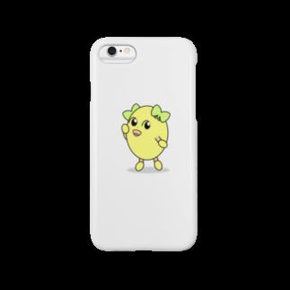 まぼろし国 Suzuri店のふりむき きなこちゃん(白) Smartphone cases