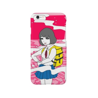 夕焼と女の子 Smartphone cases