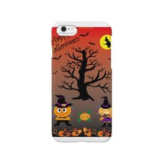 Trick & Treatのクレコちゃんハロウィンナイト Smartphone cases