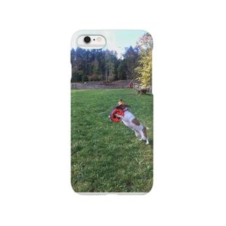 濃い顔ジャックのフリスビーキャッチ Smartphone cases
