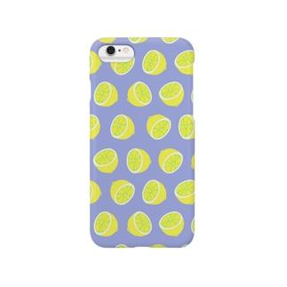 レモン ライトブルー Smartphone cases