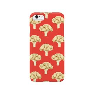 cauliflower レッド Smartphone cases