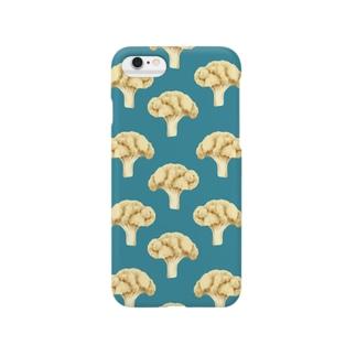cauliflower ブルー Smartphone cases
