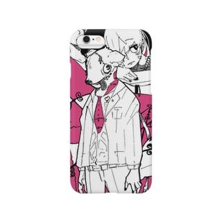 犬マスク Smartphone cases