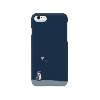 紙飛行機とペンギンさん Smartphone cases