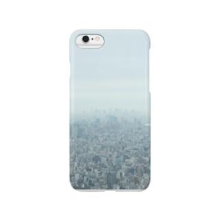スカイツリーから見えた曇る東京 Smartphone cases