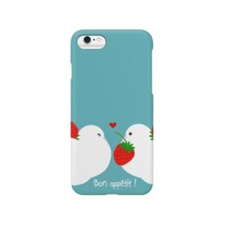 ハトのいちごドロボー Smartphone cases