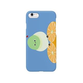 メジロのミカンボート Smartphone cases