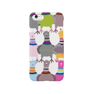 鳩のモモヒキのスマホケース Smartphone cases