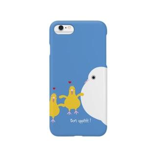 鳩のヒナぽぽとママぽぽ Smartphone cases