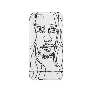 落書きアートフェイスプリント Smartphone cases