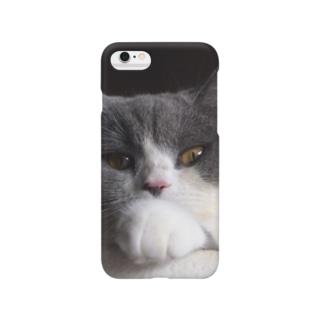 ハチワレねこ黒カブ Smartphone cases
