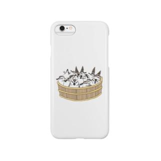 ヘラシギ風呂 Smartphone cases