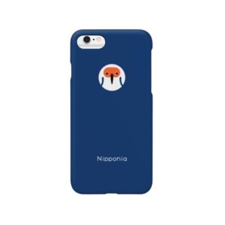 トキ navy Smartphone cases