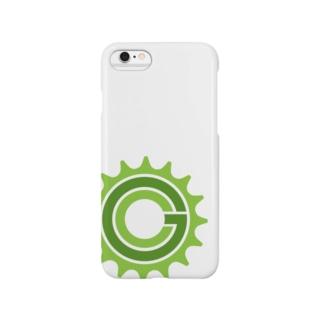 Green Cog Cog Logo スマートフォンケース