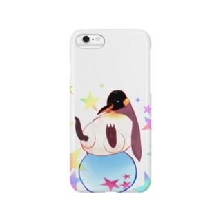 ボールに乗るペンギン Smartphone cases
