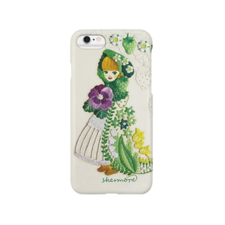 (iphone)苺と花のケープ Smartphone cases