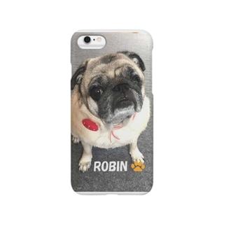 パグ・ロビン Smartphone cases