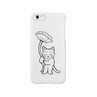 花を持つ猫 Smartphone cases