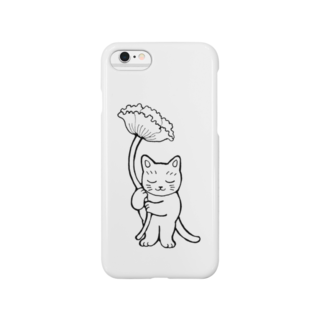 mikepunchの花を持つ猫 Smartphone cases