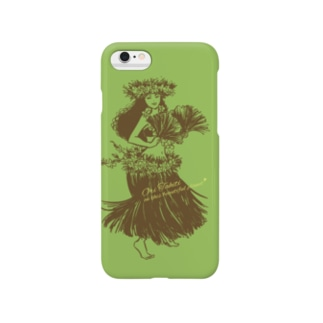 タヒチアンダンサー 001♪ (グリーン) Smartphone cases