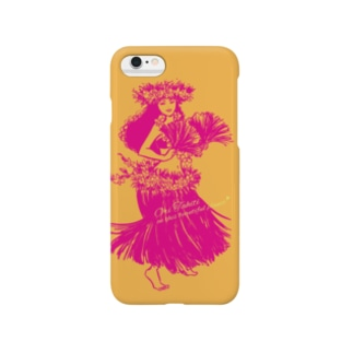 タヒチアンダンサー 001♪(オレンジ) Smartphone cases