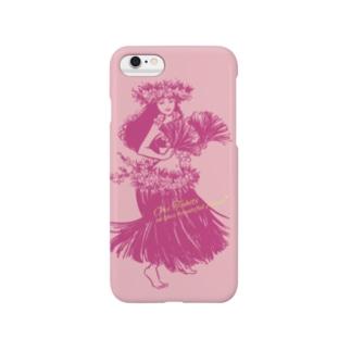 タヒチアンダンサー 001♪(ピンク) Smartphone cases
