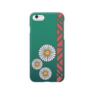 緑にひな菊 スマートフォンケース