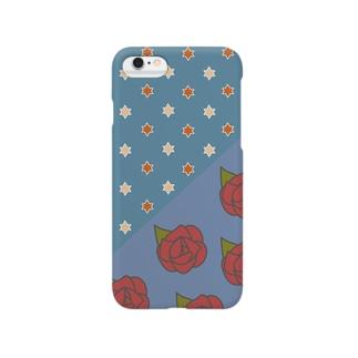 花の見る夢(青) Smartphone cases