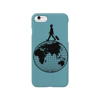 樹月のトラベラー(地球儀) Smartphone cases