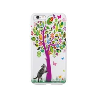 サンプル=木の下バージョン。 Smartphone cases