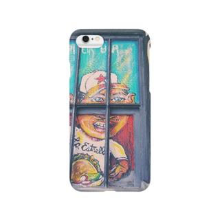 L.A.のタコス屋さんの壁の絵 Smartphone cases